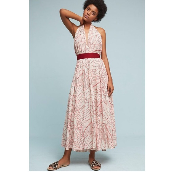760687308a5 Anthropologie Dresses | Halter Wrap Dress | Poshmark
